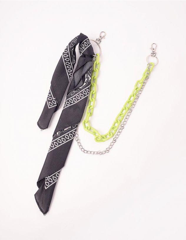 Ланцюжок для одягу  подвійний з хусткою | 244046-20-XX - A-SHOP