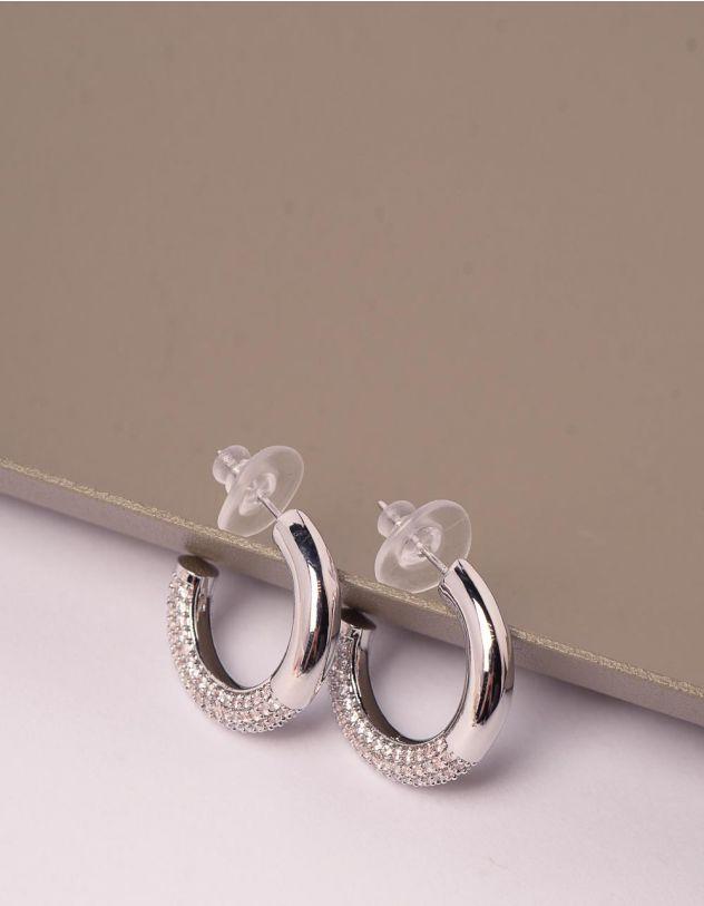 Сережки кільця зі стразами   248355-06-XX - A-SHOP