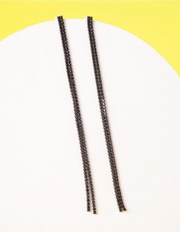 Сережки довгі зі стразами | 235342-02-XX - A-SHOP