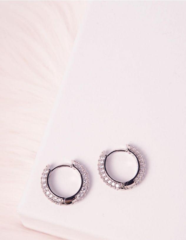 Сережки кільця з камінцями | 245308-06-XX - A-SHOP