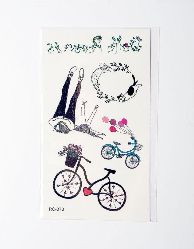 Татуировка временная с велосипедами | 224878-21-XX