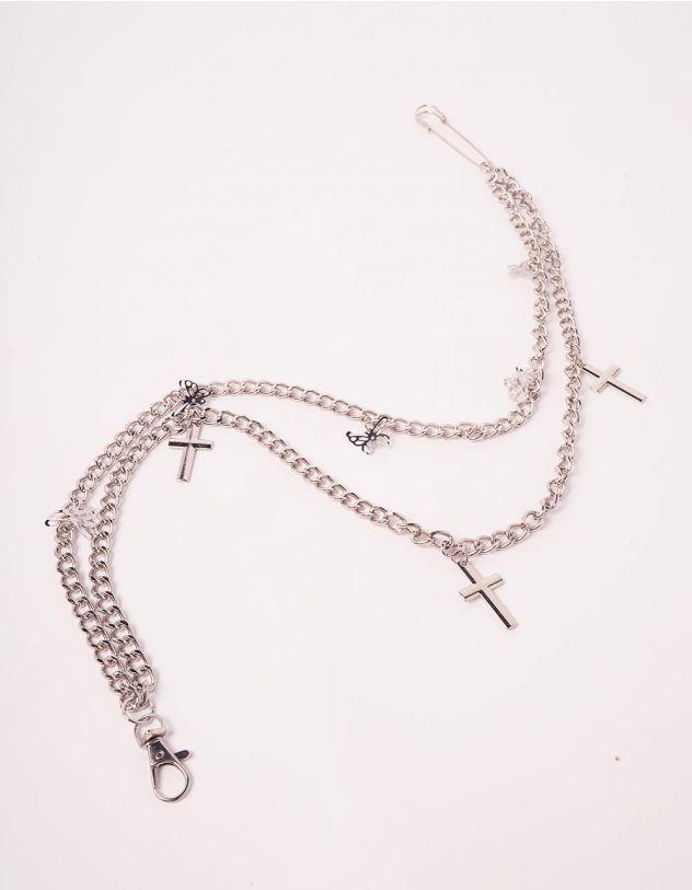 Ланцюжок для одягу подвійна з хрестами   244078-05-XX - A-SHOP