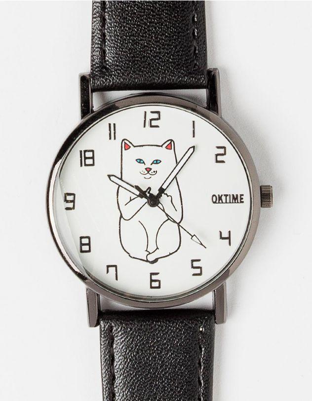 Часы наручные с принтом КОТа LORD NERMAL | 226762-02-XX - A-SHOP