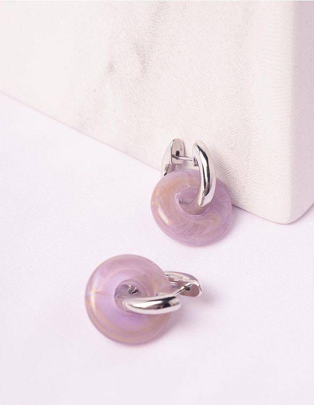 Сережки маленькі з кільцями | 246904-35-XX - A-SHOP