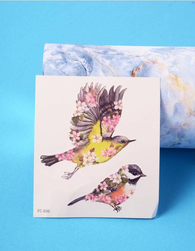 Татуювання тимчасове з принтом пташок | 236342-21-XX