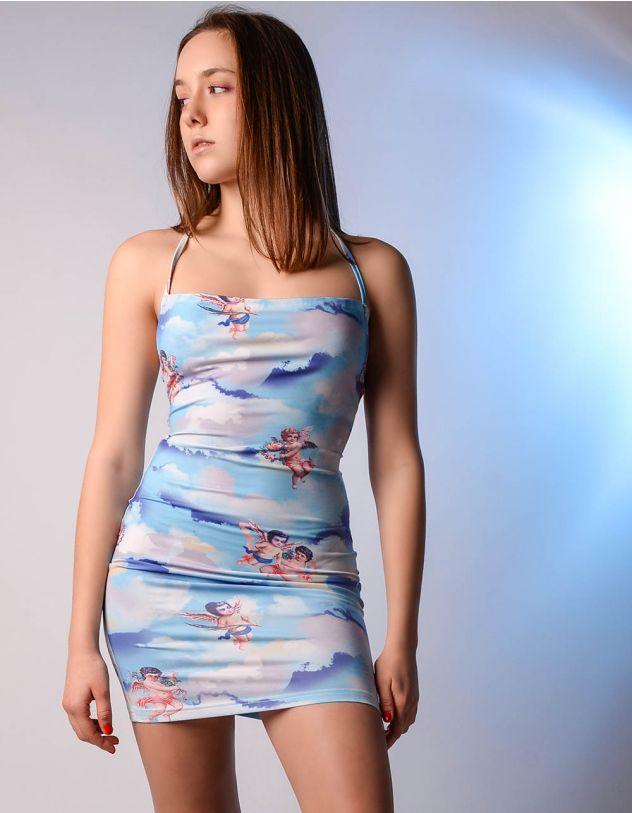Сукня з принтом ангелів | 242740-18-21 - A-SHOP