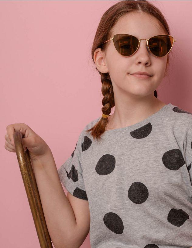 Окуляри дитячі сонцезахисні з тонкими дужками | 236182-04-XX