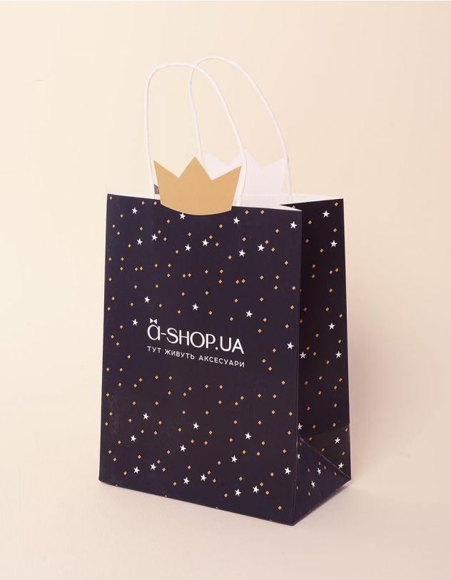 Пакет подарунковий a shop з короною та зірочками   237924-02-XX - A-SHOP