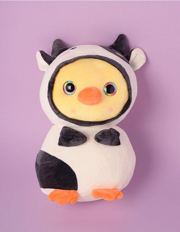 Іграшка м'яка у вигляді качечки у костюмі корівки   248586-01-XX - A-SHOP