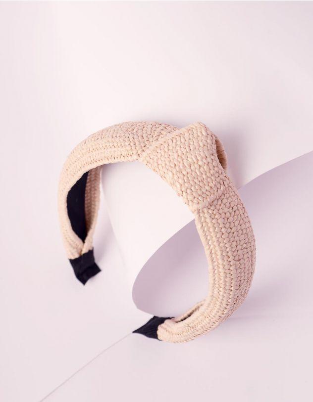 Обідок для волосся плетений з вузлом | 241166-22-XX - A-SHOP