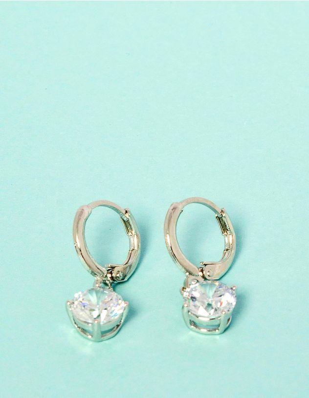Сережки з англійською застібкою та кристалами | 230424-06-XX - A-SHOP