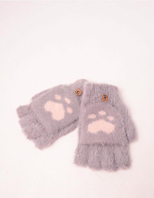 Рукавички мітенки теплі з лапками | 241815-03-XX - A-SHOP
