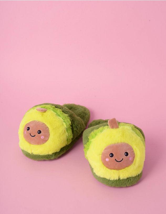 Капці для дому у вигляді авокадо | 240354-20-17 - A-SHOP
