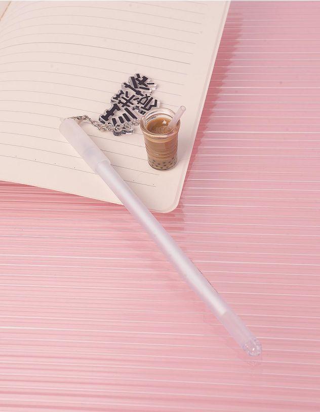 Ручка з кулоном у вигляді склянки  з напоєм | 244182-02-XX - A-SHOP