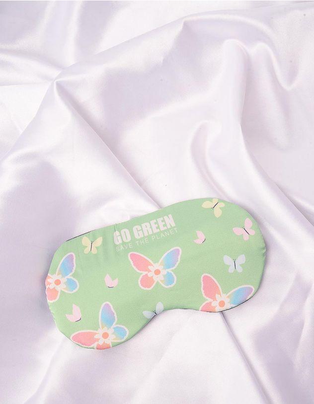 Пов'язка для сна з принтом метеликів | 244699-37-XX - A-SHOP
