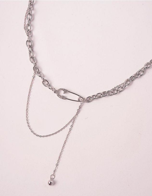 Підвіска на шию із ланцюжків з булавкою | 249427-05-XX - A-SHOP