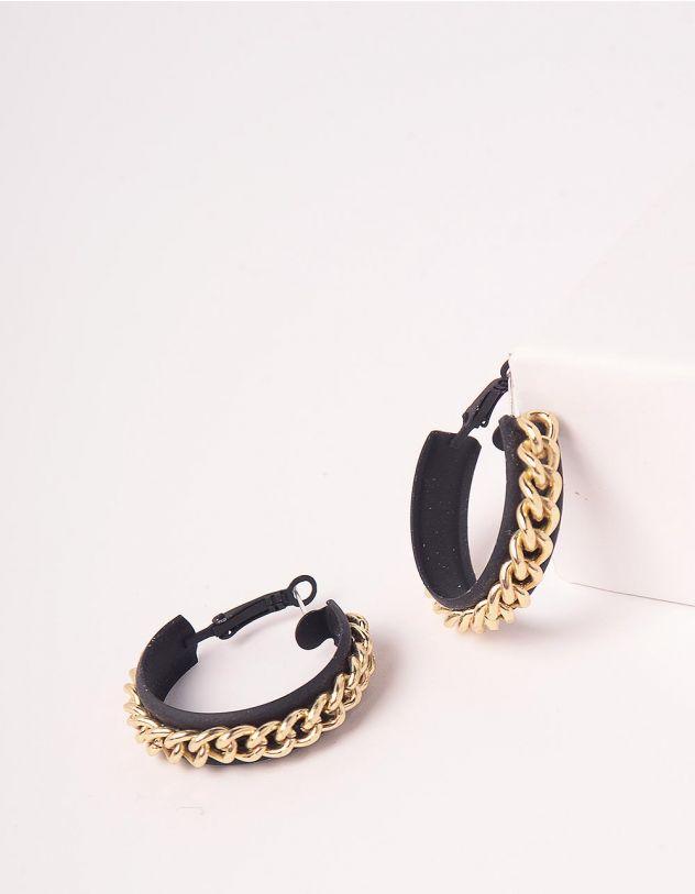 Сережки кільця з ланцюжками   246571-09-XX - A-SHOP
