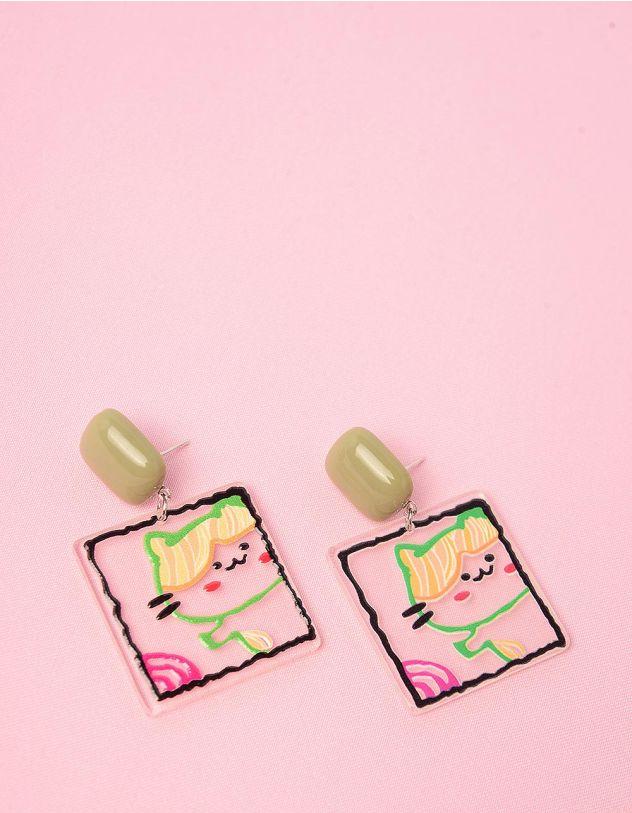 Сережки із зображенням кицьки | 249101-37-XX - A-SHOP