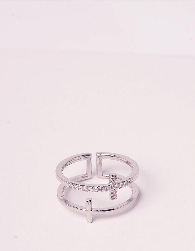 Кільце багатошарове з хрестом | 246336-06-XX - A-SHOP
