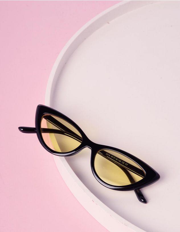 Очки cat eye узкие солнцезащитные | 229093-19-XX