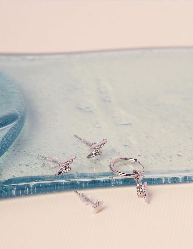 Сережки з блискавками у наборі   240851-06-XX - A-SHOP