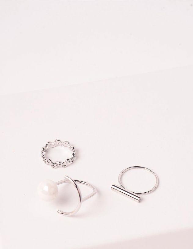 Кільця з перлиною | 246579-06-XX - A-SHOP