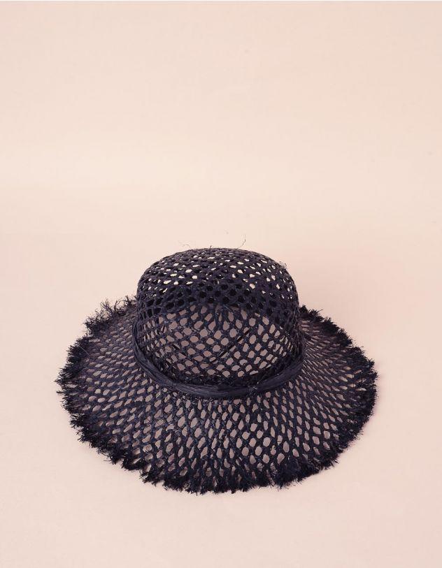 Капелюх плетений зі стрічкою із штучної соломи   241583-02-XX