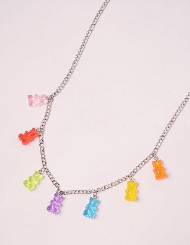 Підвіска на шию з кольоровими ведмедиками | 244153-51-XX - A-SHOP