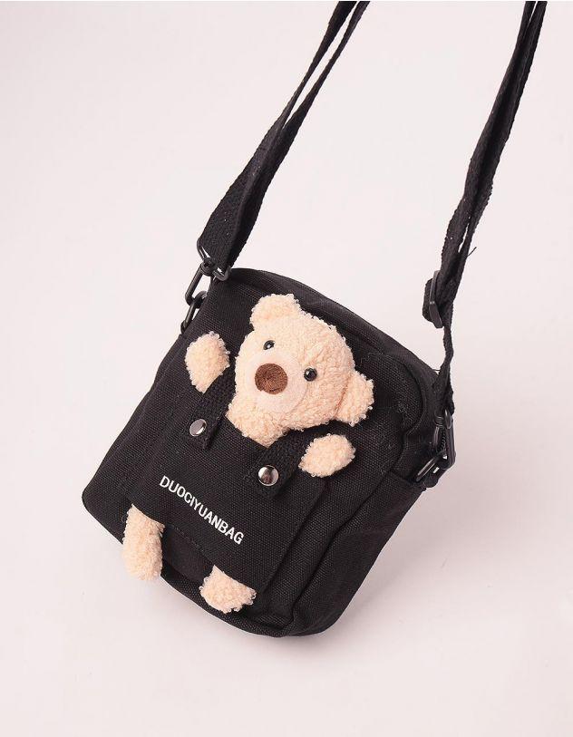 Сумка через плече маленька з ведмедиком | 247401-02-XX - A-SHOP