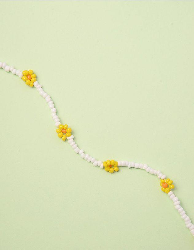 Чокер на шию з квітами із намистин | 243008-19-XX - A-SHOP
