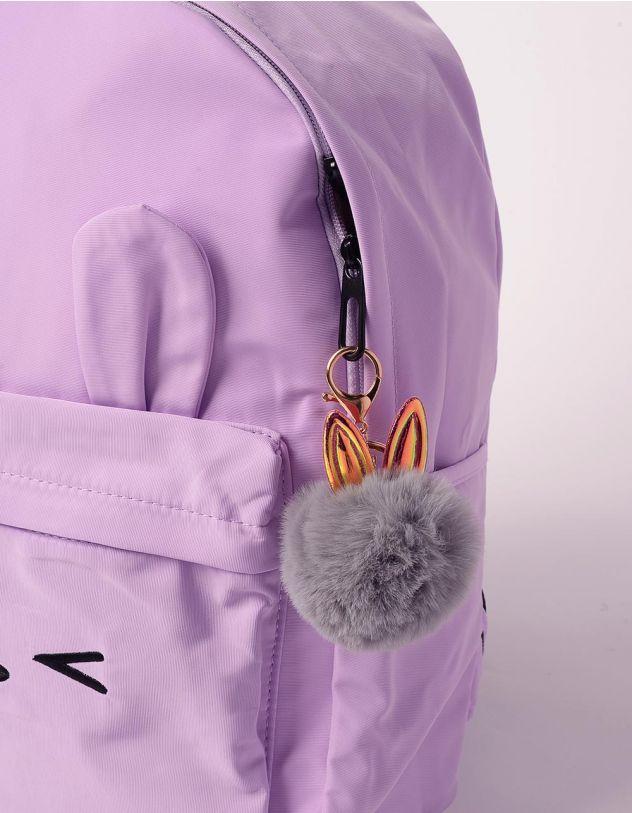 Брелок на сумку у вигляді хутряної кульки з голографічними вушками   239263-29-XX - A-SHOP