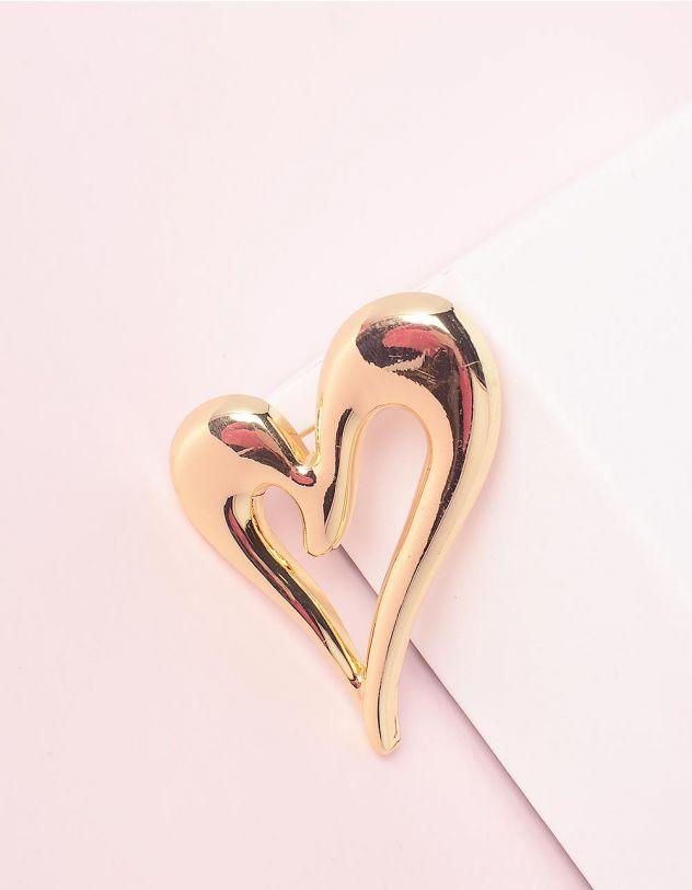 Брошка у вигляді серця   245011-04-XX - A-SHOP