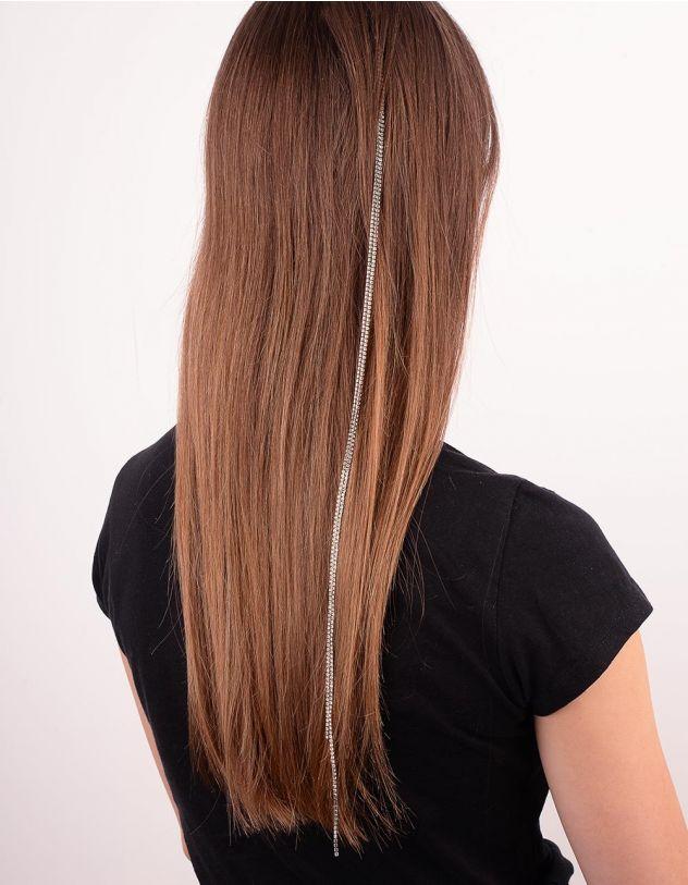 Шпилька для волосся з ланцюжком із страз | 249425-06-XX - A-SHOP