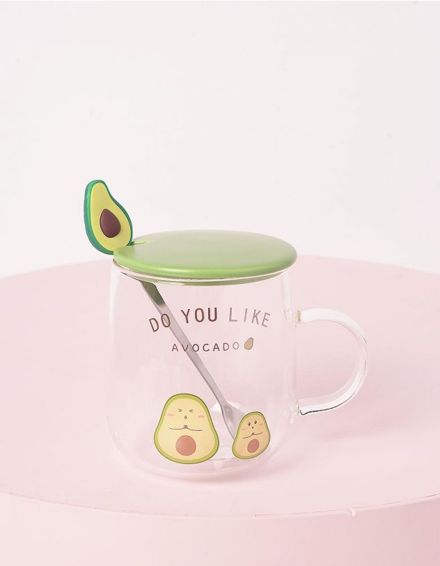 Чашка на 450мл з принтом авокадо | 243707-37-XX - A-SHOP