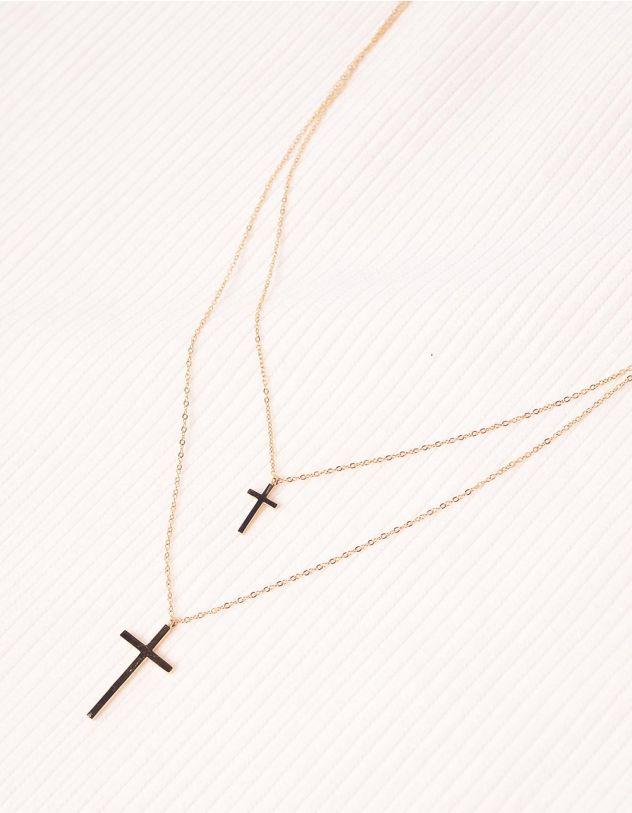 Підвіска подвійна з хрестиками | 239803-19-XX - A-SHOP