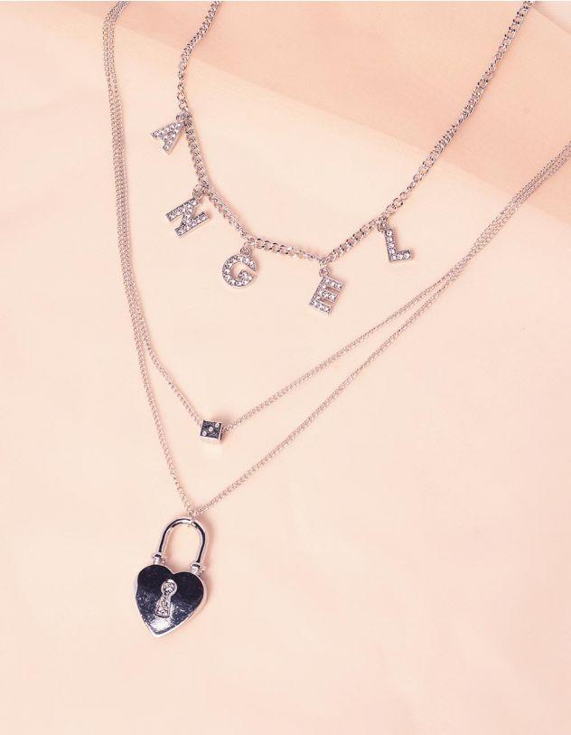 Чокер підвіска з написом angel та серцем | 242980-06-XX - A-SHOP