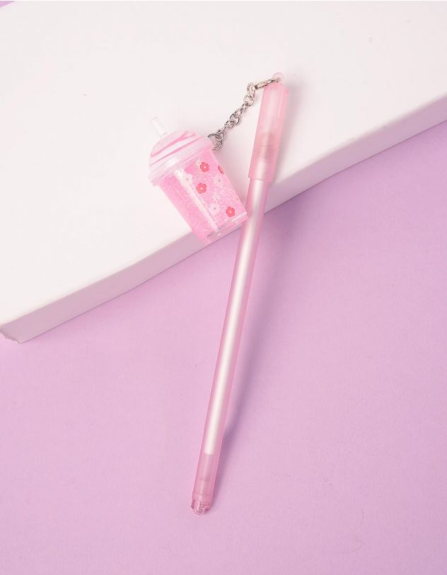 Ручка з брелоком у вигляді склянки з напоєм | 244184-14-XX - A-SHOP