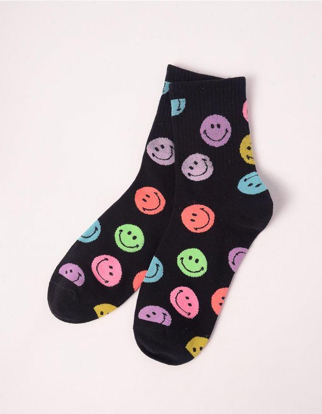 Шкарпетки з принтом смайликів | 243132-02-XX - A-SHOP