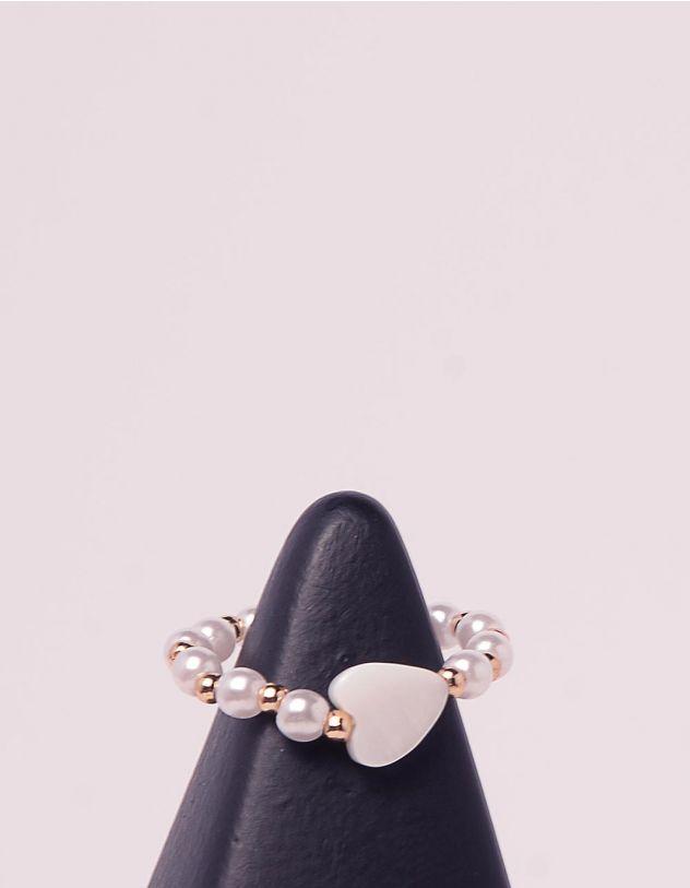 Кільце із перлин з сердечком | 243575-08-XX - A-SHOP
