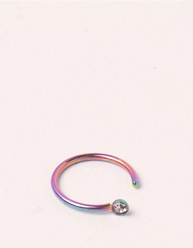 Сережка обманка з кристалом | 248978-21-XX - A-SHOP