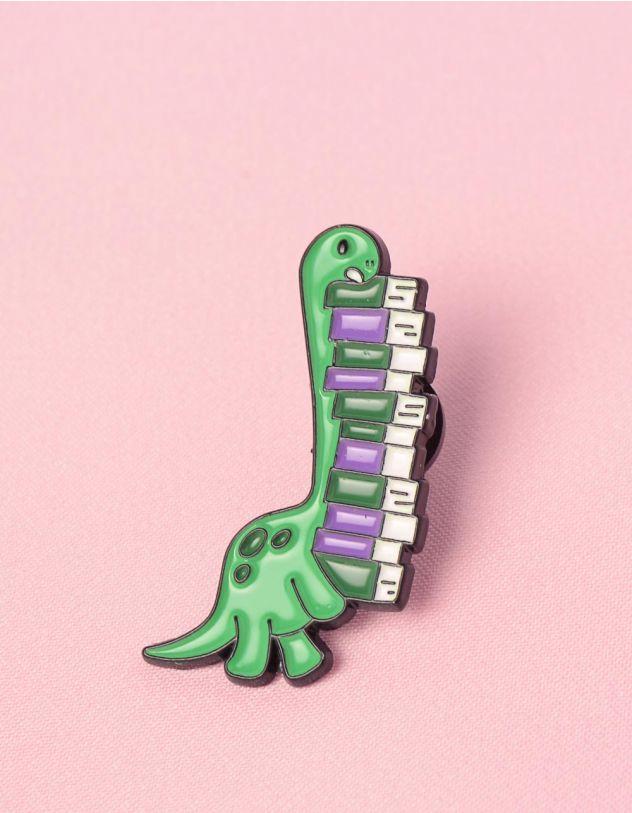 Брошка у вигляді динозавра з книгами | 249275-37-XX - A-SHOP