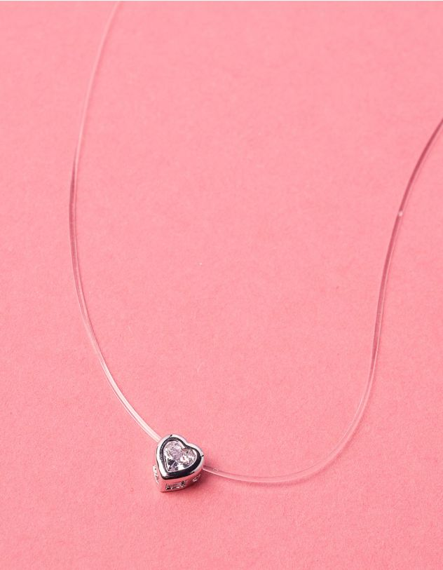 Чокер з волосіні з кулоном у вигляді серця | 234239-06-XX - A-SHOP
