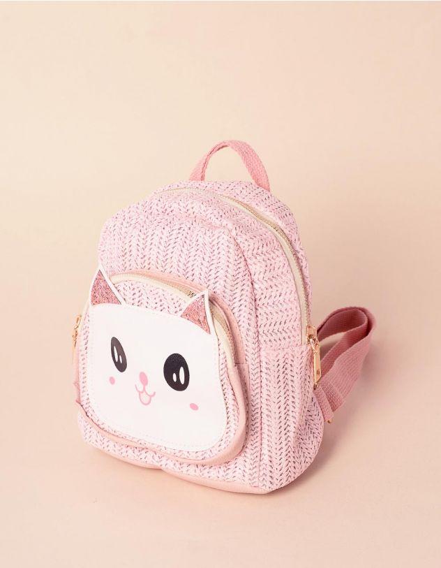 Рюкзак плетений з кицькою | 239320-14-XX