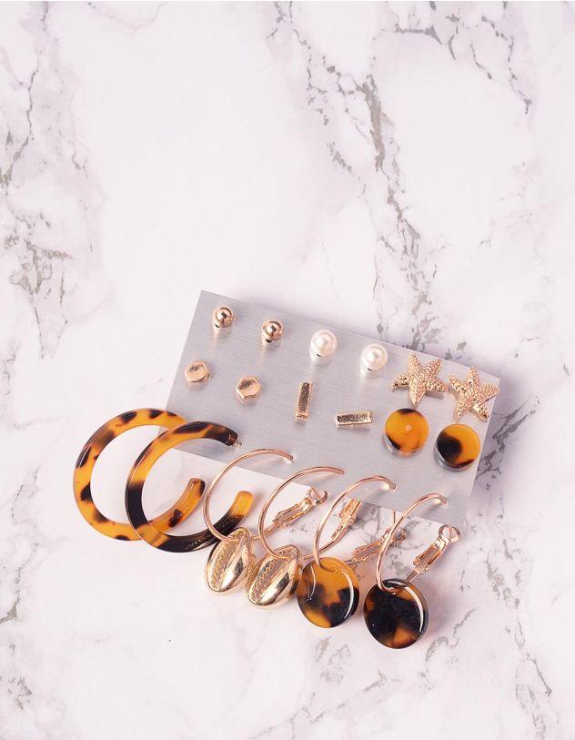 Сережки кільця та пусети у наборі | 239690-04-XX - A-SHOP