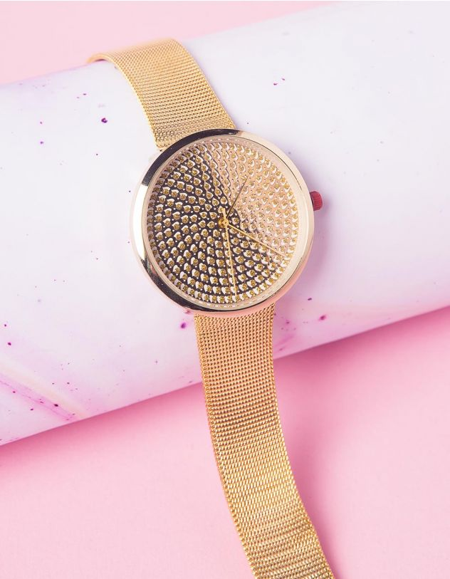 Годинник на руку з серцями на циферблаті | 237253-04-XX - A-SHOP