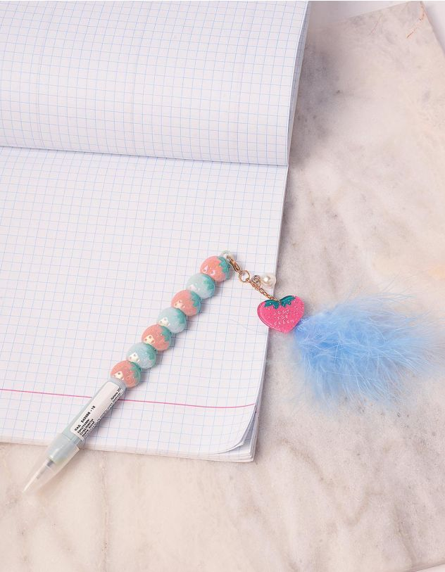 Ручка з брелоком у вигляді полунички | 243366-18-XX - A-SHOP