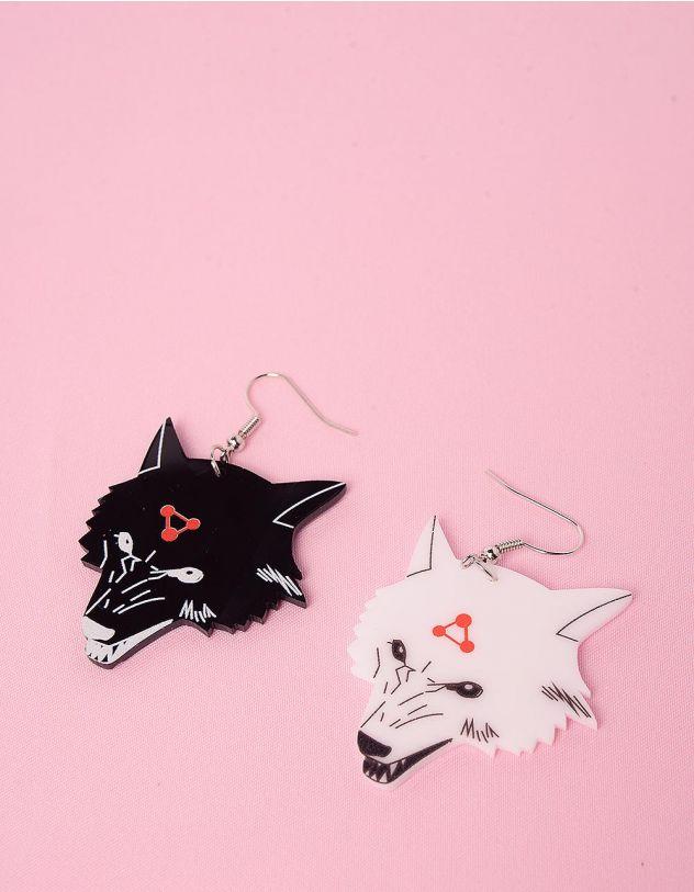 Сережки із зображенням вовків | 249185-01-XX - A-SHOP