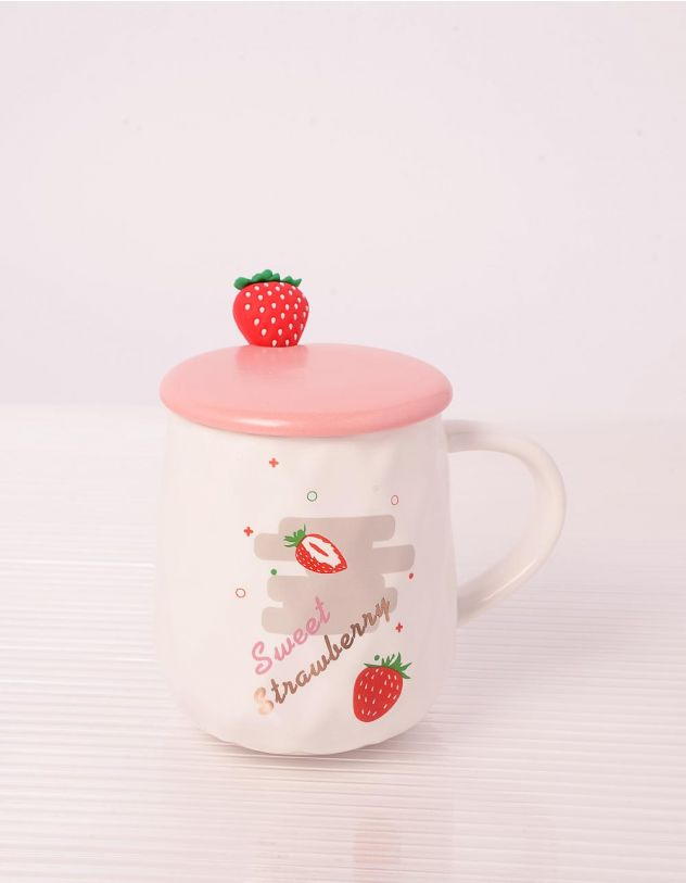Чашка на 400мл з принтом полуниці | 243710-01-XX - A-SHOP