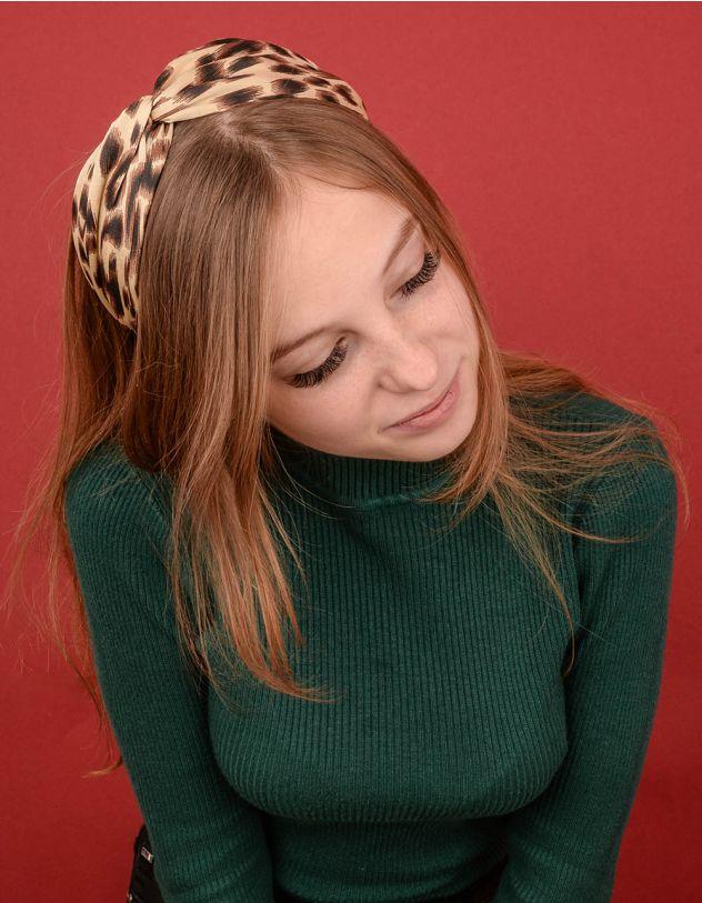 Обідок для волосся з леопардовим принтом | 239723-34-XX - A-SHOP