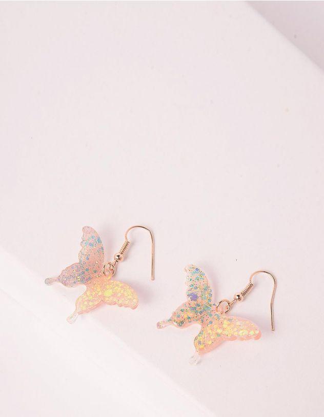 Сережки з метеликами   246307-04-XX - A-SHOP